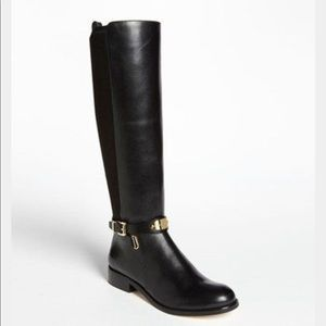 Black Michael Kors Arley riding boots